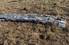 Cocaína apreendida após queda de helicóptero pesou quase 250 quilos