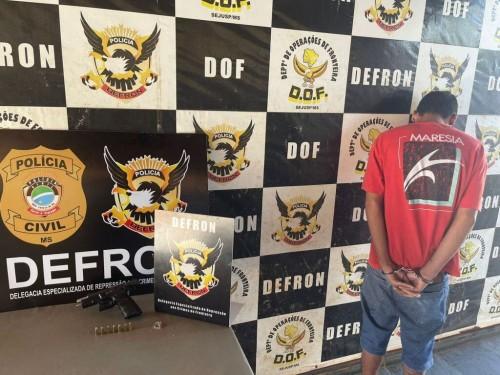 Wesley disse que não participaria do crime, apenas guadava a arma para a facção; Foto: Divulgação/Defron