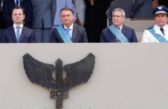 O evento ocorreu na Base Aérea de Brasília (Foto: Isac Nóbrega/PR)