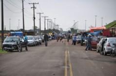 Sem-terra com carros montam acampamento às margens da 163