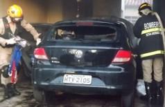 Bandidos incendeiam carro de PM por reclamação de som alto em MS