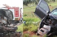 Colisão entre duas caminhonetes e Fiesta mata 4 e fere 2 pessoas em MS