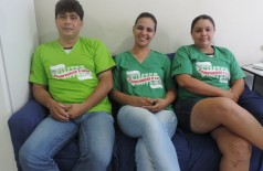 Edvaldo Machado, Gleice Barbosa e Janice Maia Mendes da Silva, integrantes da Chapa Compromisso e Luta (André Bento)