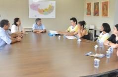 Prefeito só recebeu educadores hoje, após greve anunciada há mais de 10 dias ser retomada pela categoria (A. Frota)