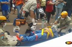 Doralino atravessava a Avenida Marcelino Pires quando foi atropelado por uma moto Yamaha Factor (Sidnei Bronka)