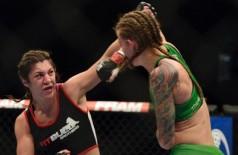 Bethe Correia conseguiu se impor sobre Jessamyn Duke e venceu a sétima luta na carreira, se mantendo invicta (Tommy Gilligan/USA TODAY)