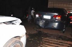 Colisão envolve quatro veículos em cidade do interior de MS