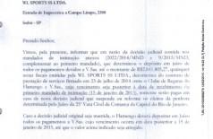 Flamengo avisa Luxemburgo que não pagará seu salário por ordem judicial