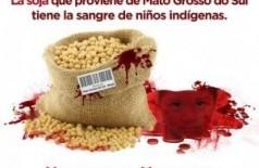 Na internet, movimento divulga imagens relacionando indígenas e produção de MS (Foto: Divulgação) ()