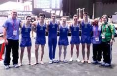 Pela primeira vez na história, o país classificou-se na competição por equipes masculinas para a disputa dos J... (Reprodução/Facebook)