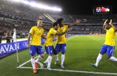 O jogador Lucas Lima do Brasil comemora gol durante a partida desta sexta-feira (13) (Rafael Ribeiro / CBF)