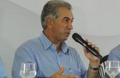 Durante agenda em Dourados nesta manhã, o governador Reinaldo Azambuja informou que verba obtida por Marçal en... (André Bento)