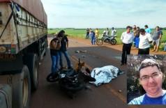 Professor universitário de Dourados morre após bater moto que pilotava em carreta