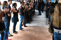 Servidores da saúde de Dourados voltam a fazer protesto contra Zauith por não receber parte do 13° salário