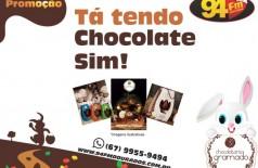 "Banner: Promoção ""Na 94 ta tendo chocolate sim!"""
