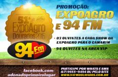 Banner: Promoção Expoagro e 94 FM