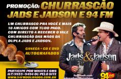 Banner: Promoção Churrascão Jads e Jadson e 94 FM