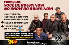 Banner: Você de Roupa Nova no Show do Roupa Nova
