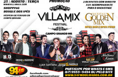 Banner: Promoção 94 FM e Você no Villa Mix Festival