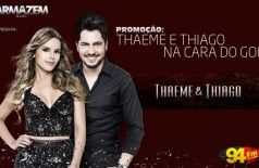 Banner: Promoção Thaeme & Thiago Na Cara do Gol