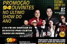 Banner: Promoção 94 Ouvintes no Ultimo Show do Ano