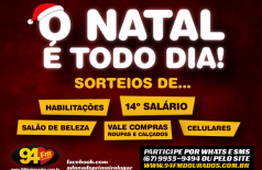 Banner: Promoção Natal Todo Dia na 94 FM