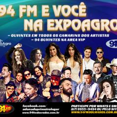 Banner: 94 FM & Você Na Expoagro