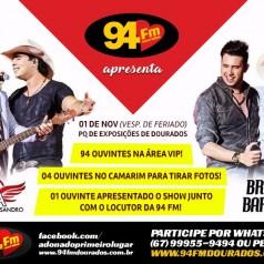 Banner: Promoção Conrado & Aleksandro e Bruno & Barreto