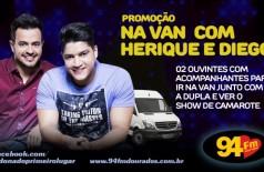 Banner: Promoção Na Van Com Henrique e Diego