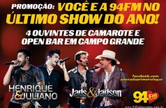Banner: Promoção, Você e a 94 FM no Ultimo Show do Ano!