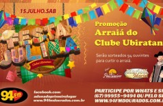 Banner: Arraiá do Clube Ubiratan