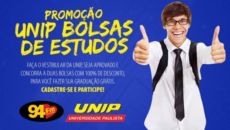 Banner: UNIP Bolsa de Estudos