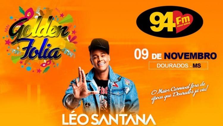 Banner: Golden Folia com Léo Santana