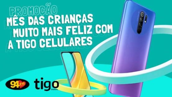 Banner: Mês da crianças com a TIGO Celulares