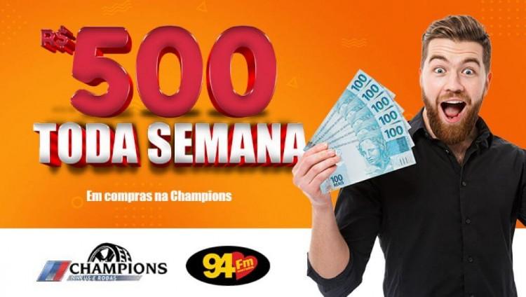 Banner: 500 reais toda semana