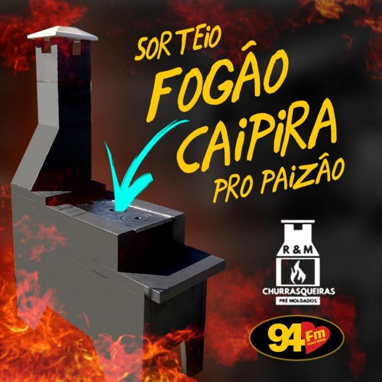 Banner: Sorteio Fogão Caipira