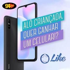 Banner: Alô criançada, quer ganhar um celular!?