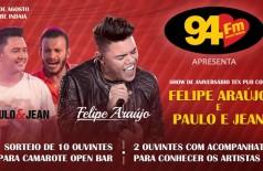 Banner: Promoção Felipe Araújo e você de camarote Open Bar
