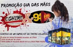 Banner: Dia das Mães Oshiro Tintas e 94 FM Dourados